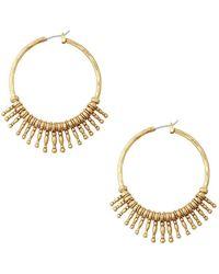 Lucky Brand - Gold-tone Sunburst Hoop Earrings - Lyst