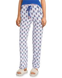 Psycho Bunny Printed Knit Sleep Pants - Blue