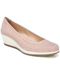 Naturalizer Betina 2 Perforated Leather Wedges - Purple