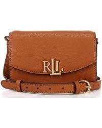 Lauren by Ralph Lauren Madison Leather Convertible Crossbody Belt Bag - Brown