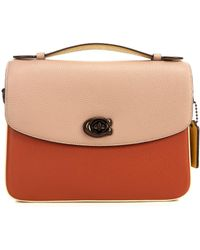 COACH Cassie Colorblock Leather Crossbody Bag - Brown