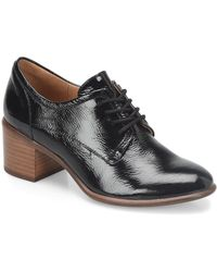 Söfft - Patience Patent Leather Block Heel Oxford Pumps - Lyst