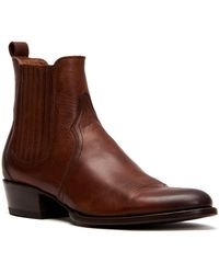687918c361fed Frye Men's Logan Chelsea Boots in Brown for Men - Lyst