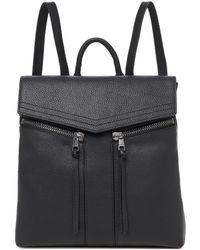 Botkier Trigger Zip Pebble Leather Backpack - Black