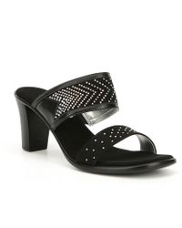 Onex - Lizzie Rhinestone Embellishment Dress Sandals - Lyst