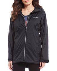 Columbia Switchback Lined Long Rain Jacket - Black