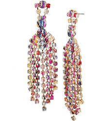 Betsey Johnson Multi-color Graffiti Chandelier Earrings - Multicolour