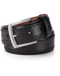 Johnston & Murphy - Perforated Belt - Lyst