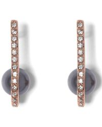 Vince Camuto - Burnt Rose Gold Crystal Front/back Earrings - Lyst