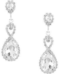 Cezanne - Infinity Drop Earrings - Lyst