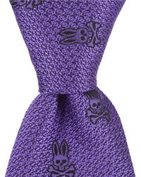 "Psycho Bunny - Solid Bunny Traditional 3.25"" Silk Tie - Lyst"