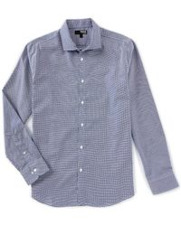 c1f1b06b91d Murano - Liquid Luxury Slim-fit Geometric Long-sleeve Woven Shirt - Lyst