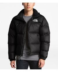 The North Face Solid Nuptse Insulated Puffer Down Jacket - Black