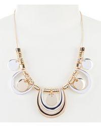 Dillard's - Two Tone Statement Necklace - Lyst