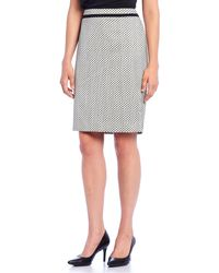 Calvin Klein - Petite Size Piped Novelty Pencil Skirt - Lyst