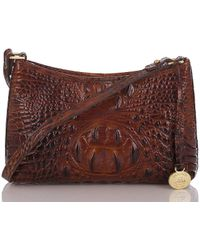 Brahmin - Melbourne Collection Anytime Mini Croco-embossed Shoulder Bag - Lyst