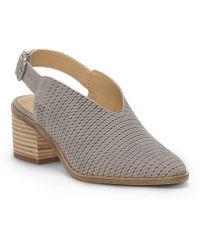 Lucky Brand - Lideton Nubuck Sling Back Block Heel Sandals - Lyst
