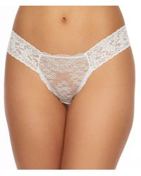 d71d5ffc64d6 Lyst - Hanky Panky 40th Anniversary Low Rise Diamond Cotton Thong in ...