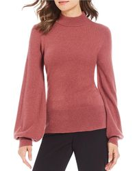 Antonio Melani - Luxury Collection Cashmere Allie Mock Neck Bishop Sleeve Sweater - Lyst