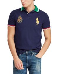 9ad55bdec Polo Ralph Lauren Custom-Fit Tiger Polo Shirt in Red for Men - Lyst