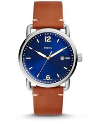 Fossil - The Commuter Analog & Date Leather-strap Watch - Lyst