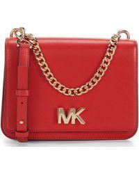 8903a7b64f22 MICHAEL Michael Kors - Mott Large Chain Swag Shoulder Bag - Lyst