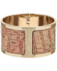 Brahmin - Melbourne Collection Leather Inlay Cuff Bracelet - Lyst
