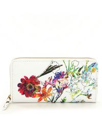 Elliott Lucca - Floral Faux Leather Large Zip Wallet - Lyst