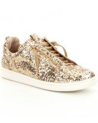 Gianni Bini Zoric Glitter Sneakers - Metallic
