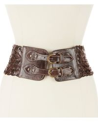 Bed Stu - Quirk Wide Woven Leather Belt - Lyst