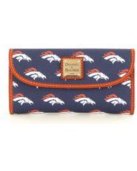Dooney & Bourke Nfl Collection Denver Broncos Continental Clutch - Blue