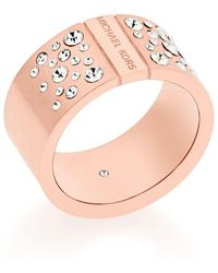 Michael Kors Pavé Crystal Barrel Ring - Pink