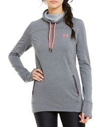 Under Armour - Funnel Neck Long Sleeve Featherweight Fleece Pullover - Lyst