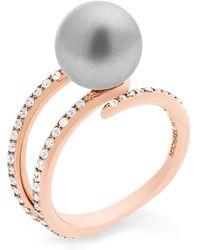 Michael Kors Classic Modern Faux-pearl Ring - Metallic