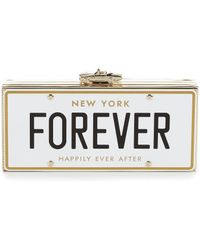 Kate Spade Wedding Belles Collection Forever License Plate Clutch - Metallic