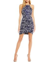 Mystic - Floral Lace Envelope-hem Sheath Dress - Lyst