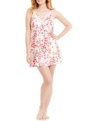 Oscar de la Renta - Pink Label Rose Petal Charmeuse & Lace Chemise - Lyst