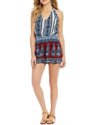 Patrons Of Peace   Paisley-printed Halter Neck Romper   Lyst