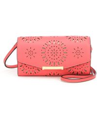 Ivanka Trump - Mara Laser-cut Cross-body Wallet - Lyst