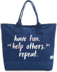 TOMS - All Day Help Others Quote Tote - Lyst