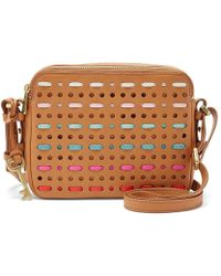 Fossil Piper Woven Toaster Cross-body Bag - Brown