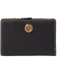 Lauren by Ralph Lauren - Compact Pebbled Wallet - Lyst