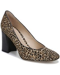 Via Spiga Beatrice2 Leopard Print Calf Hair Block Heel Pumps - Multicolor