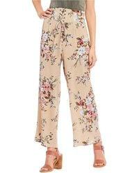 Blu Pepper - Floral High Waist Lace Up Pants - Lyst