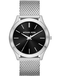 cd6dd344e789 Lyst - Michael Kors Watches S Slim Runway Stainless-steel Watch in ...
