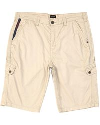 Buffalo David Bitton Howan 10 Inseam Cargo Shorts - Natural