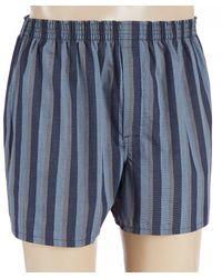 Cremieux Stripe Woven Boxers - Blue