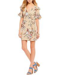 Blu Pepper - Floral Wrap Dress - Lyst