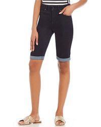 Jones New York | Lexington Rinse Wash Stretch Denim Bermuda Shorts | Lyst