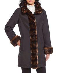Gallery - Faux Fur Trimmed Storm Coat - Lyst